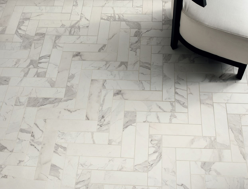 Natural Marble Versus Effect Tiles